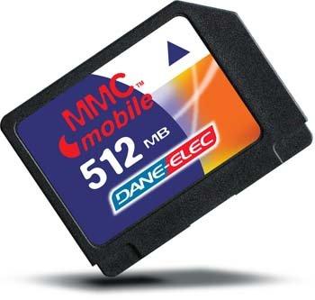 Dane-Elec 512MB MultiMediaCard Mobile + Adapter Memoria Flash 0,5 ...