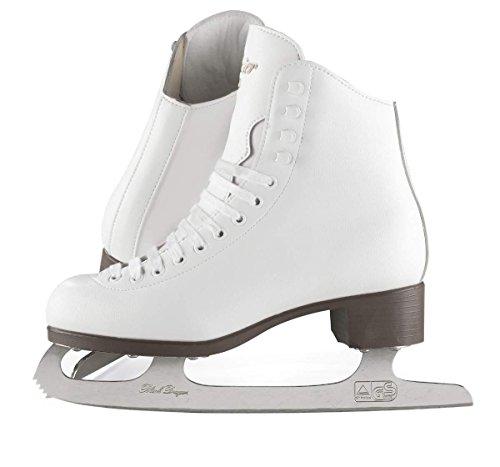 Vinyl Girls Ice Skates - Jackson Ultima Glacier GSU121 White Kids Ice Skates, Size 1