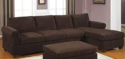 Charming 2-pcs sectional sofa reversable modern style By Poundex