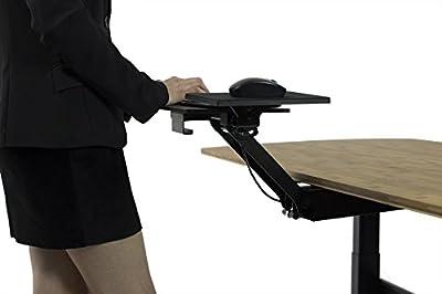 KT2 Adjustable Underdesk Stand Up Desk Keyboard Drawer/Tray | Raise keyboards above your desk for standing!
