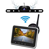 Accfly IP68 Waterproof Wireless Backup Camera Monitor Kit with 4.3