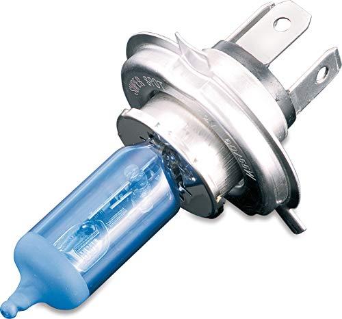 Kuryakyn 2205 Motorcycle Lighting: Replacement 65/55 Watt H4 Halogen Headlamp Light Bulb, Super White, Pack of 1