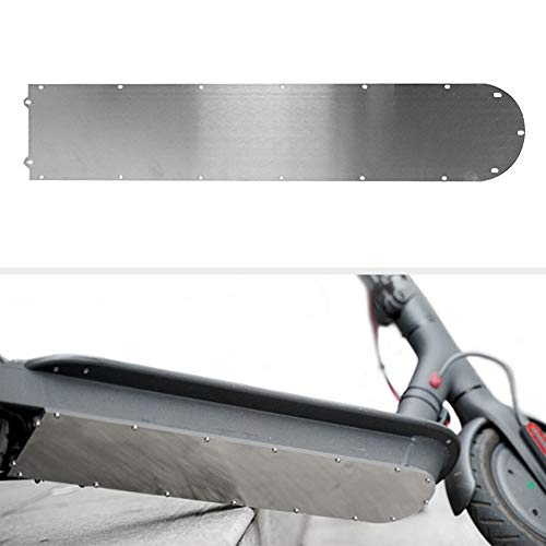 (Floor Guard Chassis for M365 Electric Scooter, Anti-Collision Bottom Battery Cover Chassis Armor Decks Board Plate Protection Kit Stainless Steel for Xiaomi Mijia M365 E-Scooter Accessories)