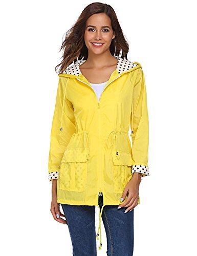 Unibelle Waterproof Lightweight Rain Jacket Active Outdoor Hooded ...