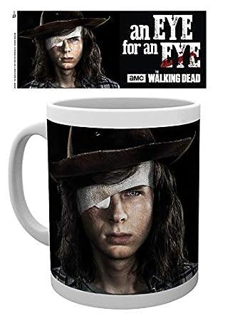 1art1® The Walking Dead - Carl Grimes, Ojo por Ojo Taza Foto (9 x 8cm): Amazon.es: Hogar