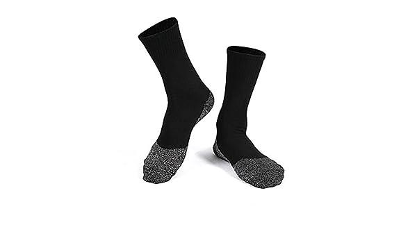 ZooArts® - 1 par de calcetines de fibra de aluminio para mantener los pies calientes y secos, unisex, negro, talla única: Amazon.es: Hogar