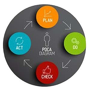 alfombrilla de ratón Vector PDCA (Plan Do Compruebe la Ley) diagrama / esquema - ronda - 20cm