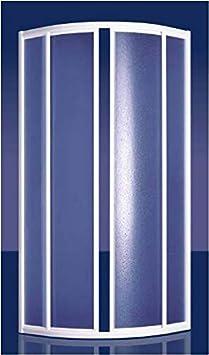 Mampara ducha arcilico semicircular apertura centrale dos hojas correderas Perfiles en aluminio plata satinado 75 x 75 cm, Altura 185 cm: Amazon.es: Bricolaje y herramientas