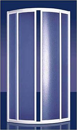 GRANISUD Box Ducha de acrílico 3 mm Semicircular con Apertura Deslizante – Perfiles Aluminio Blanco – Mod. coriam: Amazon.es: Hogar
