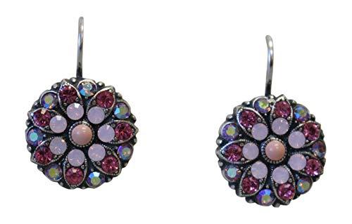Mariana Smashing Pink Swarovski Crystal Flower Earrings 1207 (Rose 0.625')