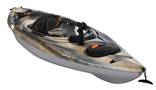 Recrational Angler Sit-in Kayak – Argo 100XP Angler Sandstone – Magnetic Grey – White -10 Feet Lightweight one Person Kayak Perfect for Fishing – KYP10P209-00