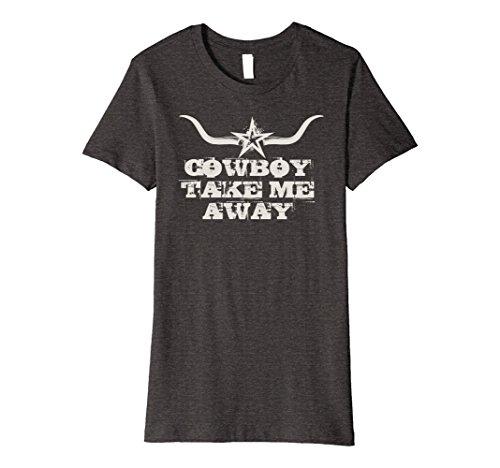 - Womens Cowboy Take Me Away - Women's Vintage Country Music T Shirt Large Dark Heather