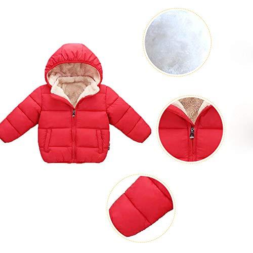 Capuche Veste Garçon Enfants Manteau Bébé Manteaux Blouson Manadlian Outwears Chaud Mixte Rouge À Épaississement D'hiver Fille Hiver CHq8YSw