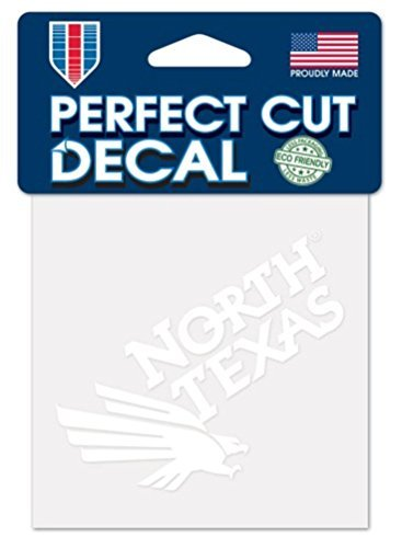 WinCraft NCAA University of North Texas Mean Green Logo 4 x 4 inch Outdoor White Decal