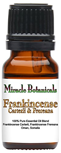 Miracle Botanicals Frankincense Carterii and Frereana Essential Oil - Therapeutic Grade - 10ml by Miracle Botanicals