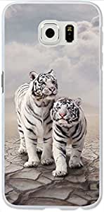Galaxy S6 Case Dseason Samsung Galaxy S6 Hard Case, High Quality Fashionable Protector Two the lovely white tiger
