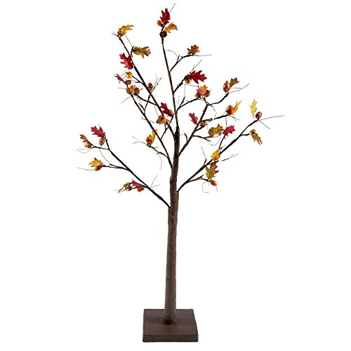 4' LED Autumn Harvest Acorn Tree - 4' Cedar Plug