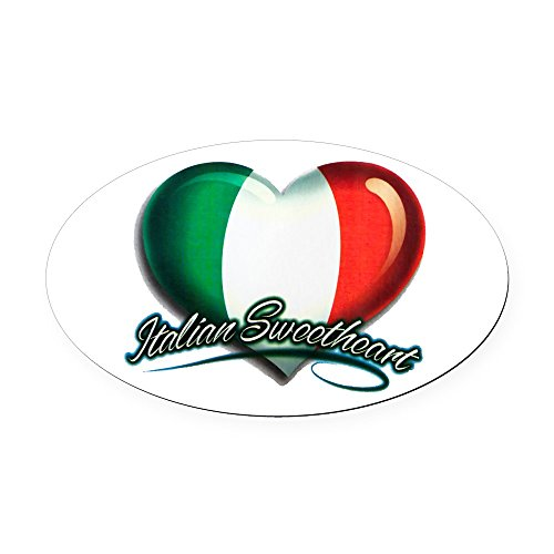 Oval Car Magnet Italian Sweetheart Italy Flag