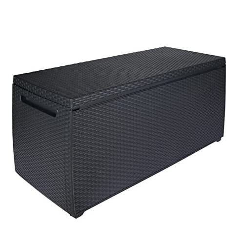 Keter 123 x 53.5 x 57 cm Capri Outdoor Plastic Storage Box Garden Furniture - Graphite