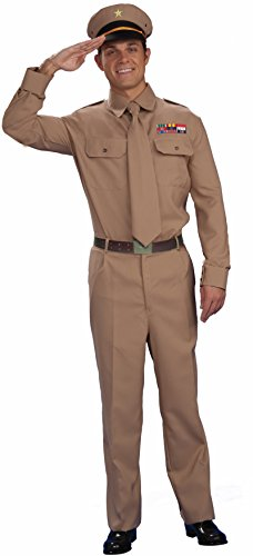 Shirt Army Adult Costumes (Forum Novelties Men's World War II General Costume, Brown, Standard)