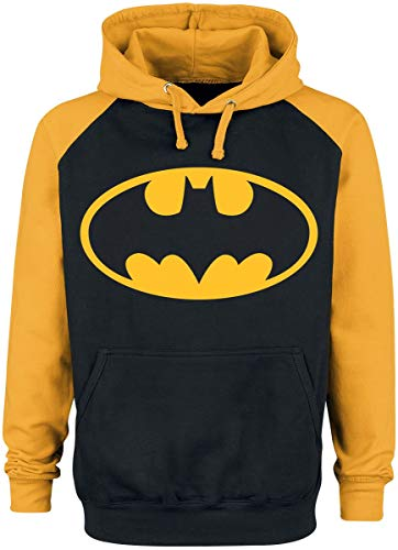 shirt Capuche Noir Logo jaune Sweat À Batman ZSR7q7