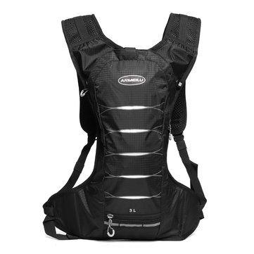 Charles Nylon Vest - Athletics Knapsack - Outdoor Hiking Climbing Bag Cycling Black Backpack Running Vest Sport Camping Hydrate - Mutation Nonresident Sportsman Rucksack Lark Fun Mutant Sportswoman - 1PCs