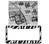 12 inch strap on with harness - 11-Piece Safari Animal Print Automotive Interior Gift Set - 2 Zebra Black and White Low Back Front Bucket Seat Covers with Separate Headrest Cover, 1 Zebra Black and White Steering Wheel Cover, 2 Zebra Black and White Shoulder Harness Pressure Relief Cover, 1 Zebra Black and White Bench Cover and 1 Zebra Black and White Plastic License Plate Frame