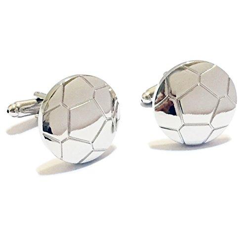 BadmenHome Silver Soccer Ball Cufflinks