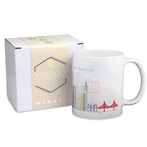 (Vastigo 11 Oz. Ceramic Mug with Top Cities in America   Full-Color Sublimated Design   Comes in Gift Box (San Francisco))