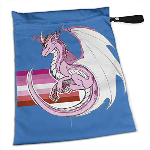 LGBTQ Lesbian Gay Pride Flag Dragon Collection Duffle Gym Bag Shoe Compartment and Wet Pocket Waterproof Gear Bikini Tote Dry Beach Swimming Camping Kayak Workout Clothes Weather