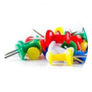 alfombrilla de ratón Color prendedores - ronda - 20cm