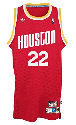 adidas Men's Clyde Drexler Houston Rockets Retired Player Swingman Jersey (Swingman Jersey Stitched)