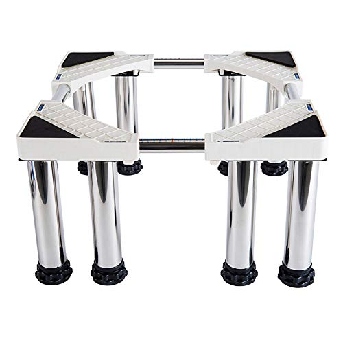 ZHIJIAB Adjustable Roller Trolley,Pedestal for Washing Machine,Duty Adjustable Appliance Base for Tumble Dryers Refrigerator,(Stainless-Steel)-8foot-20cm