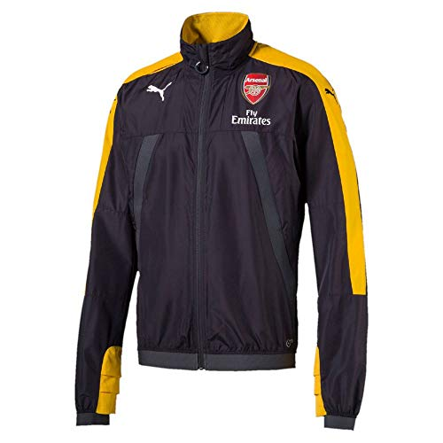 (Arsenal Puma 2016/17 Training Stadium Vent Jacket - Black Yellow - Size L )
