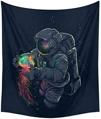 """CAMMITEVER Astronaut Wall Hanging Tapestry Outer Space Wall Art Home Decorations for Living Room Bedroom Dorm Decor in 51x60 Inches (51 W by 60"""" L)"""