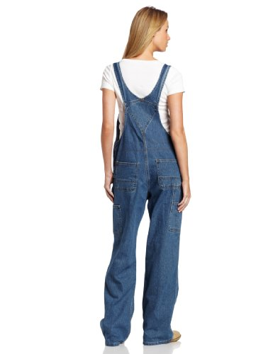 Carhartt Women's Denim Bib Overall Unlined,Faded Blue Indigo,Large Tall