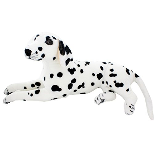 JESONN Realistic Stuffed Animals Dog Dalmatian Plush Toys (18.9 Inch)