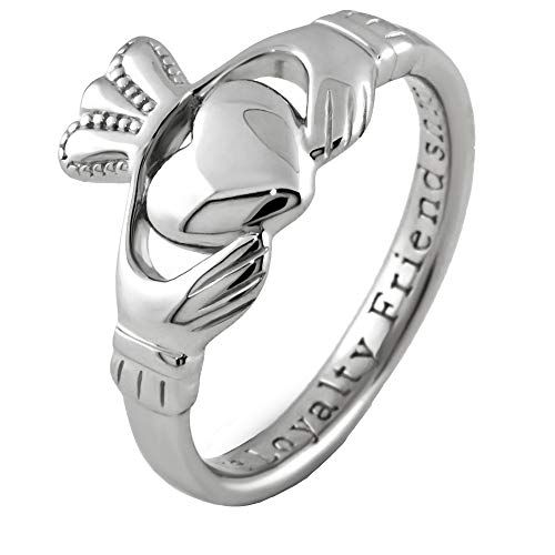Claddagh Ring Ladies Sterling Silver SL92. Made in Ireland. (4.5) - Rings Ring Ladies Claddagh