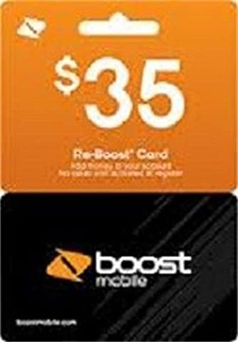 Boost Mobile $35 Reboost Refill Card (Mail delivery)