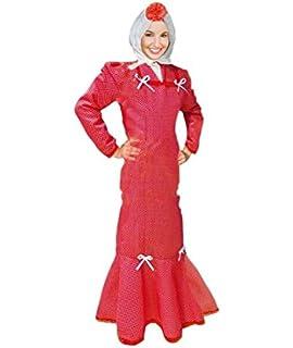 Disfraz Chulapa Mujer Rojo Lunar Blanco (XL): Amazon.es: Juguetes ...