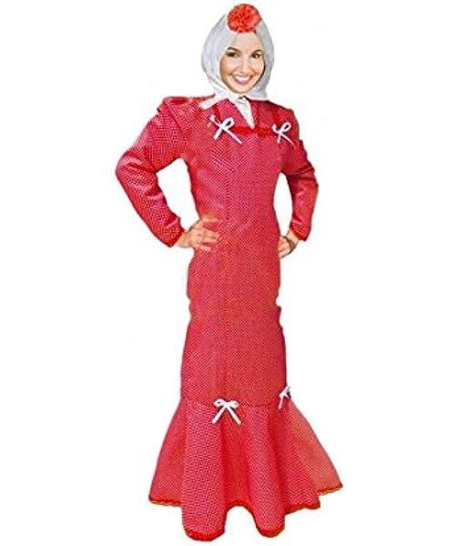 Disfraz Chulapa Mujer Rojo Lunar Blanco (XL): Amazon.es: Juguetes y juegos