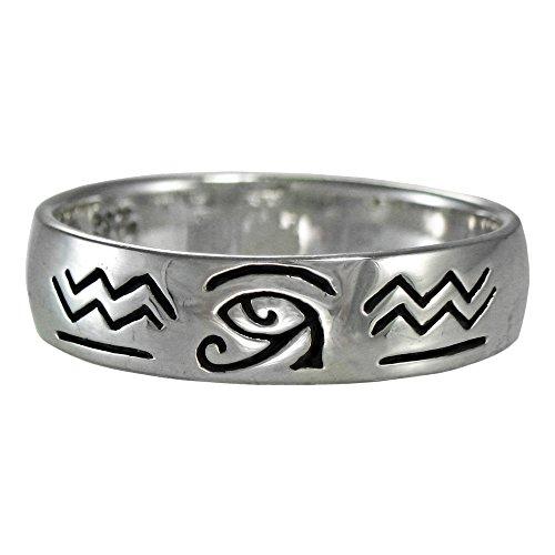 - Silver Eye of Horus Ra Udjat Egyptian Ring for men or women (available 4-15) sz 11