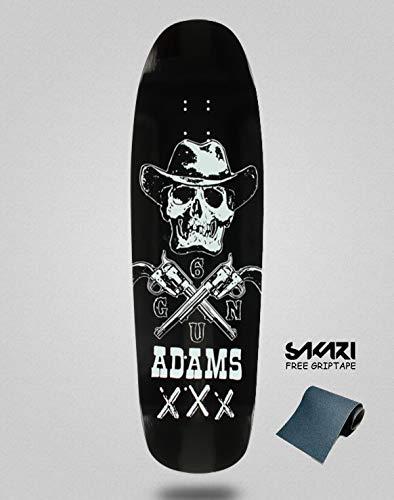 lordofbrands Monopatín Skate Skateboard Deck Black Label Jason Adams Six Gun 9.63 (Adams Skateboard Jason)