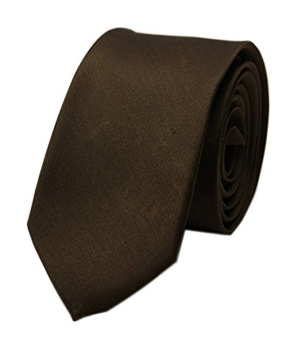 Men's Brown Silk Tie Unique Luxurious Formal Fashion Business Dress Suit Necktie (Mens Designer Executive Suit)