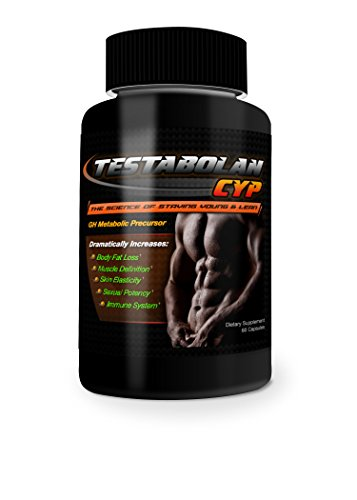 Testabolan Cyp Natural Testosterone Booster Promotes Body Fat Loss, Muscle Definition, Skin Elasticity, Immune System Dietary Supplement 60 Capsules