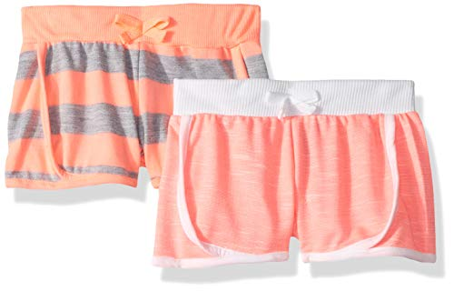 - Limited Too Girls' Toddler 2 Pack Dolphan Short Set, Neon Coral Multi, 4T