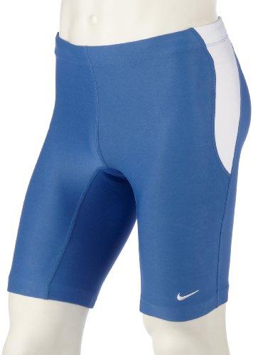 Nike FIT DRY Herren Running Tight Jogging Tights Lauftight Hose Shorts Männer Kurz Blau Größe L D 52/54 GB 34/36