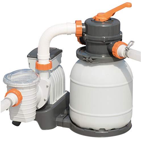 Bestway 58400 - Depuradora de arena (3.785 l/h) - Provista de mangueras compatibles y valvula de seis posiciones. Potencia de 180W - Para piscinas de 1.100 a 30.200 litros