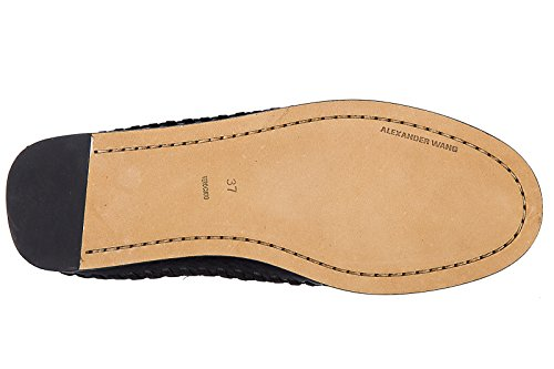 Alexander Wang Kvinners Svart Skinn Montana Frynser Mocassin Boots Black