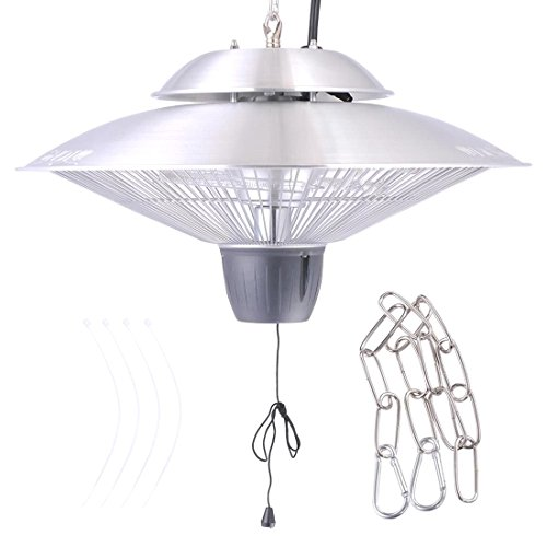 Electric Patio Infrared Outdoor Ceiling Heater Indoor fire Tent Hanging 1500 W (Patio Furniture Brisbane)